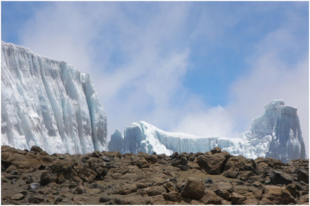 One of the glaciers on the Crater Rim